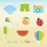 De stickers van de de zomertijd Royalty-vrije Stock Foto