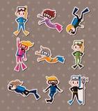 De stickers van de duiker Stock Foto's