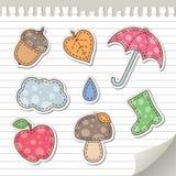 De stickers van de herfst Stock Foto's