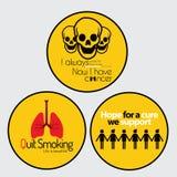 De stickers van de kankervoorlichting stock foto's