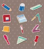 De stickers van de kantoorbehoeften Stock Foto