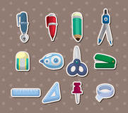 De stickers van de kantoorbehoeften Royalty-vrije Stock Foto