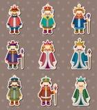 De stickers van de koning Royalty-vrije Stock Foto