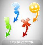 De Stickers van de navigatie Stock Fotografie