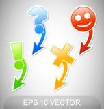De Stickers van de navigatie Royalty-vrije Stock Fotografie