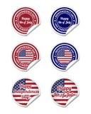 De stickers van de onafhankelijkheidsdag Royalty-vrije Stock Fotografie