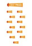 De stickers van de origami Stock Afbeeldingen
