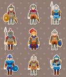 De stickers van de ridder Royalty-vrije Stock Foto