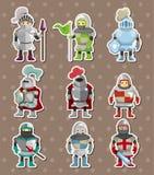 De stickers van de ridder Stock Fotografie