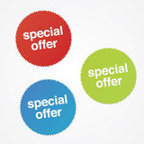 De Stickers van de speciale aanbieding Stock Foto's