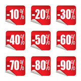 De stickers van de verkoop #1 royalty-vrije illustratie
