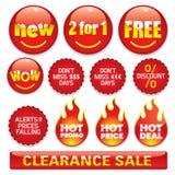 De stickers van de verkoop #2 Stock Afbeeldingen