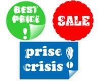 De stickers van de verkoop Stock Foto's