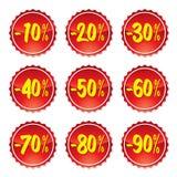 De stickers van de verkoop #3 royalty-vrije illustratie