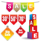 De stickers van de verkoop #4 vector illustratie