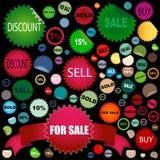 De stickers van de verkoop Royalty-vrije Stock Fotografie