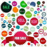 De stickers van de verkoop Royalty-vrije Stock Foto