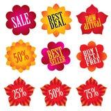 De stickers van de verkoop vector illustratie