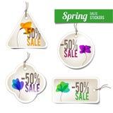 De Stickers van de Verkoop van de lente vector illustratie