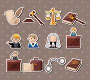 De stickers van de wet Stock Afbeeldingen