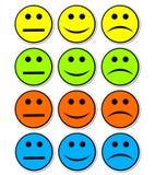De stickers van emoties Royalty-vrije Stock Afbeelding