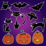 De stickers van Halloween Royalty-vrije Stock Foto's