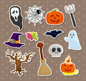 De stickers van Halloween Royalty-vrije Stock Foto