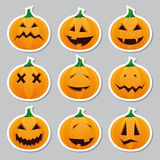 De stickers van Halloween - pompoen Stock Afbeelding
