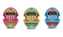 De stickers van het bier royalty-vrije illustratie