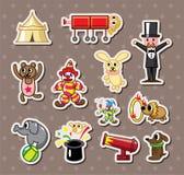 De stickers van het circus Royalty-vrije Stock Afbeeldingen