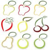 De stickers van het fruit Royalty-vrije Stock Afbeelding