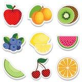 De Stickers van het fruit Stock Foto's