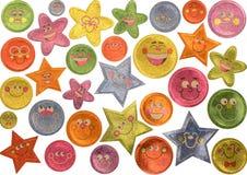 De Stickers van het Gezicht van Smiley Stock Afbeelding