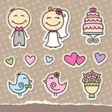 De stickers van het huwelijk Royalty-vrije Stock Foto's