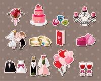De stickers van het huwelijk royalty-vrije illustratie