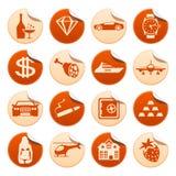De stickers van het luxeleven Stock Afbeeldingen