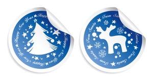 De stickers van het nieuwjaar Stock Afbeeldingen