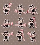 De stickers van het spook en van de duivel Royalty-vrije Stock Fotografie
