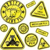 De stickers van het virus Stock Fotografie