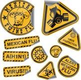 De stickers van het virus Stock Afbeeldingen
