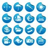De stickers van het Web. Deel vier Stock Foto