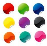 De Stickers van het Web van de cirkel stock illustratie