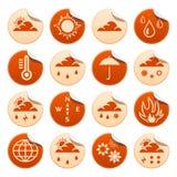 De stickers van het weer Royalty-vrije Stock Afbeeldingen