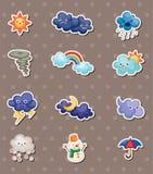 De stickers van het weer Stock Foto's