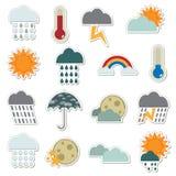 De stickers van het weer Stock Afbeelding