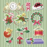De stickers van Kerstmis Stock Foto