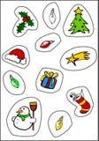 De Stickers van Kerstmis Stock Afbeelding
