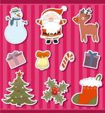 De stickers van Kerstmis Royalty-vrije Stock Afbeeldingen