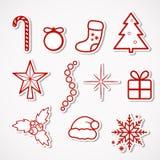 De Stickers van Kerstmis Stock Foto's