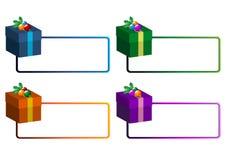 De stickers van Kerstmis Stock Afbeeldingen